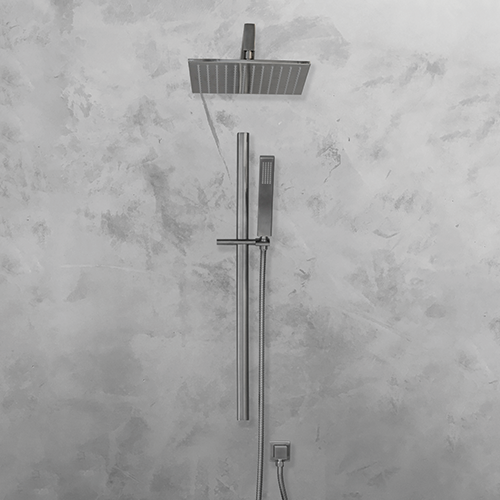 Cara Square Shower Head 250mm - Brushed nickel