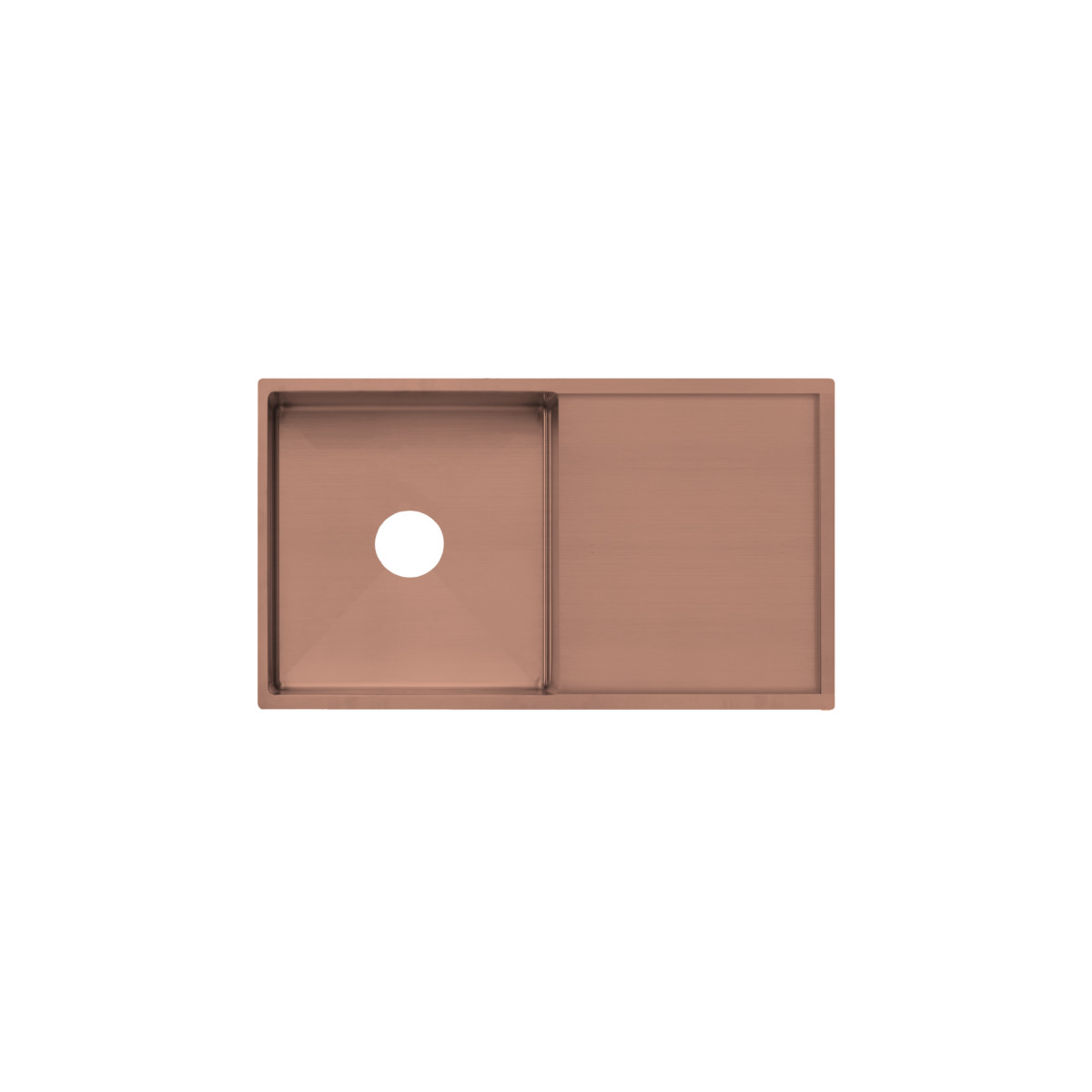 brushed copper kitchen sink