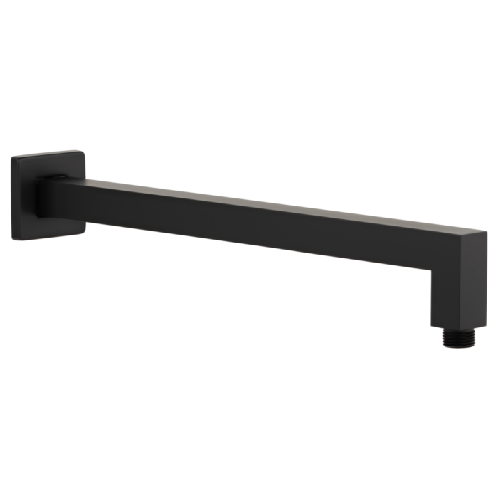 Eli Shower Arm Square 400mm - Matte Black
