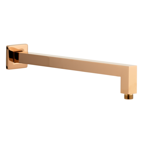 Eli Shower Arm Square 400mm - Deep Rose Gold