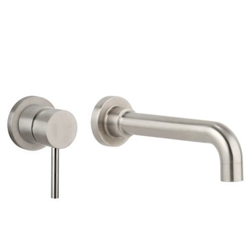 Elysian Commercial Minimal Mixer & Spout Set – Stainless Steel