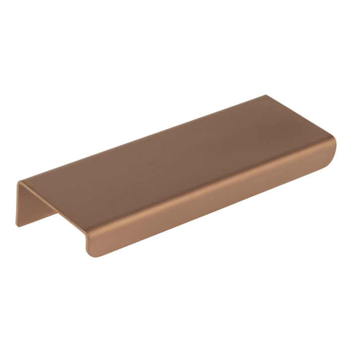 Cabinetry Pull Extended 100mm - Brushed Copper