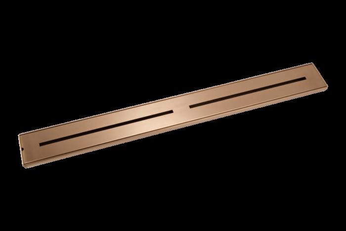Trey Shower Channel Waste 900mm - Brushed Copper
